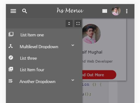 Mobile-first Mega Menu Plugin With jQuery - hs Mega Menu