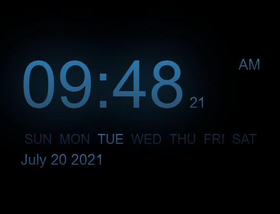 Modern Digital Clock In jQuery