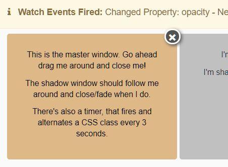 监控 CSS 更改和触发事件 - jQuery Watch