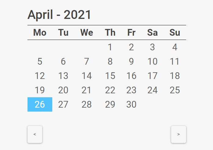 Minimal Multilingual Calendar Component For Bootstrap - calendarJs