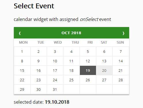 jQuery Ajax-enabled Month Calendar Plugin with Bootstrap - Zabuto