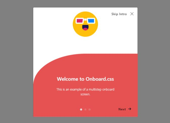 Multistep User Onboarding For Web App - onboard.css
