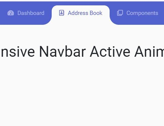 Responsive Navbar Active Animation For Bootstrap 4