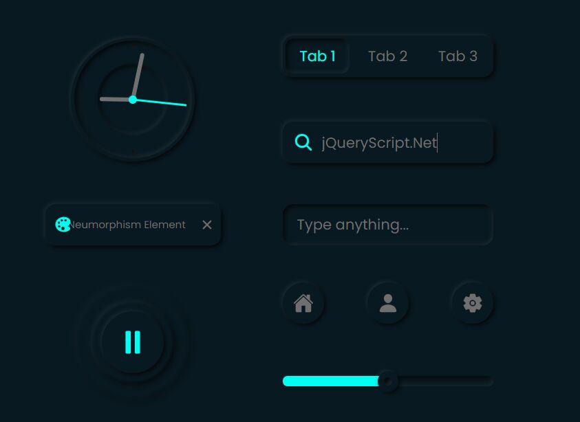 Elegant Neumorphism UI Kit With Theme Switcher