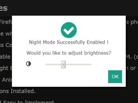 Configurable Night Mode For Webpage - jQuery night.mode.js