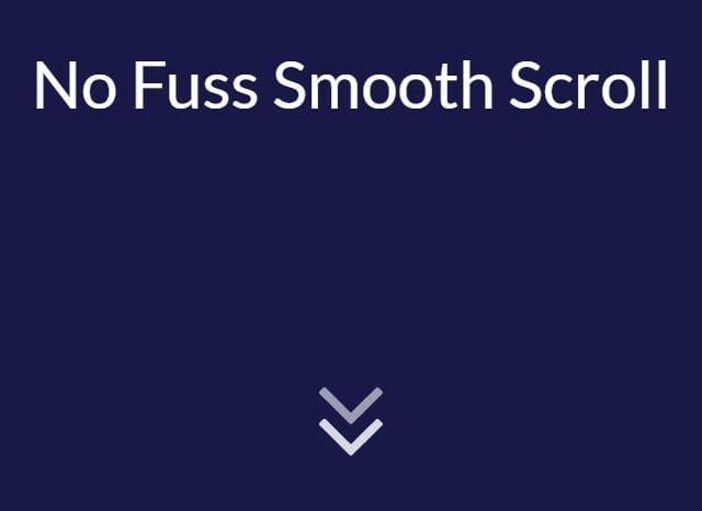 Animate Scrolling To Anchor - No Fuss Smooth Scroll
