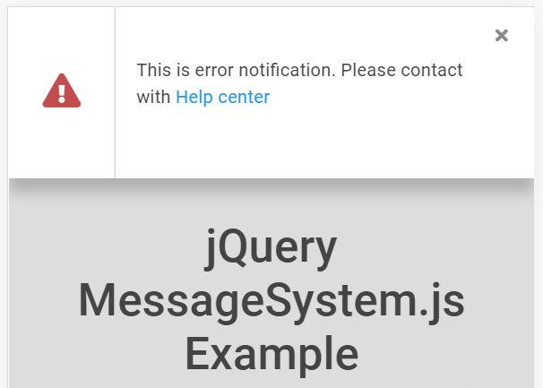 Success And Error Notification Plugin - jQuery MessageSystem.js