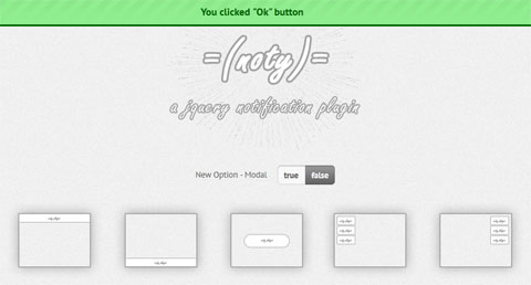 Cool Notification JavaScript Library - Noty
