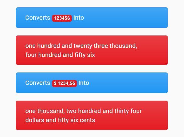 Convert Number/Money To Words - numbersinwords
