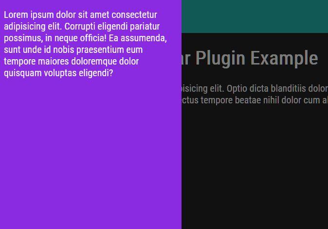 Flexible Off-canvas Side Panel Plugin - Simpler Sidebar