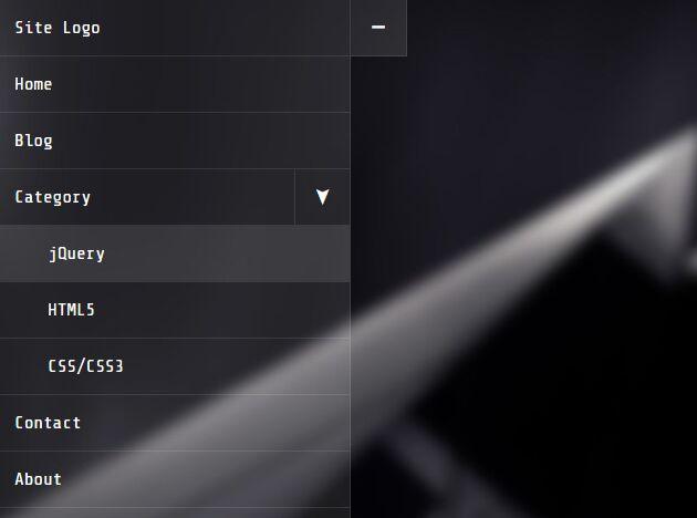 Stackable Multi-level Sidebar Menu - HC-MobileNav | Free