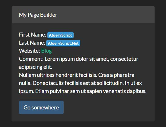 Simple Dynamic Page Builder With jQuery - ak-FillFromJSON