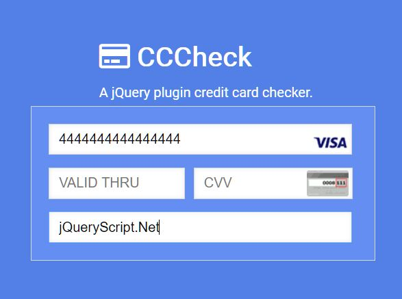 Create A Beautiful Payment Form With Credit Card Check Plugin