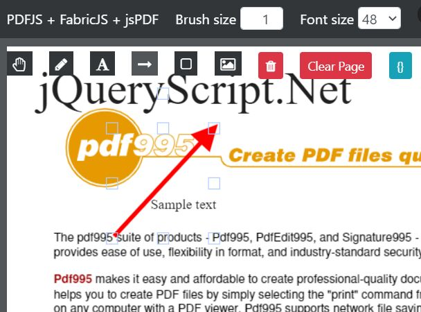PDF Annotation And Drawing Markup Plugin - pdfannotate.js