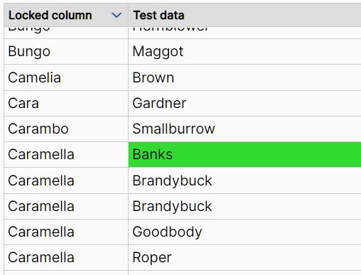 Performant Data Table Plugin With jQuery - dgtable