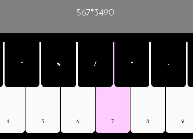 Piano Keyboard Like Calculator App In jQuery - Pianolator