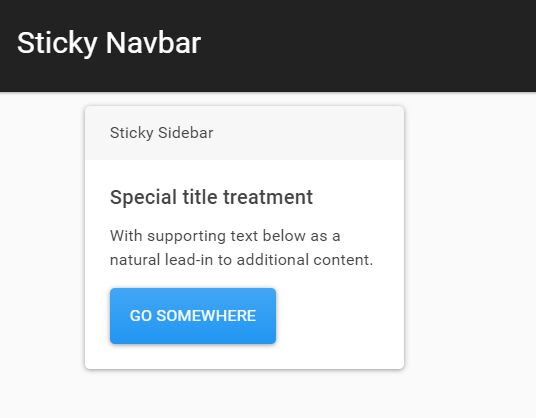 Pin Any Element To The Top Of Page When Scrolling - sticky.js