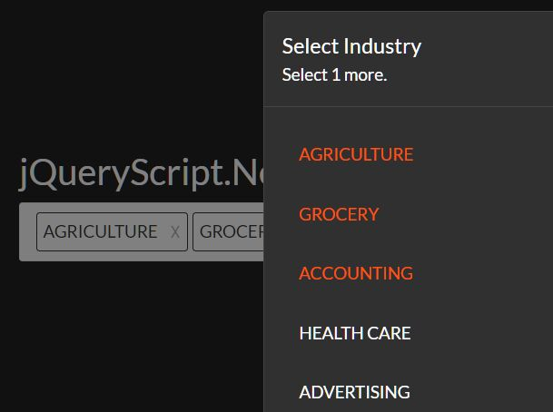 Select Multiple Options From A Popup - jQuery popupMultiSelect