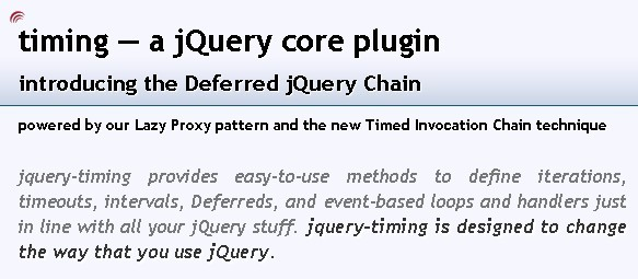 A powerful & Useful jQuery Plugin - jquery-timing
