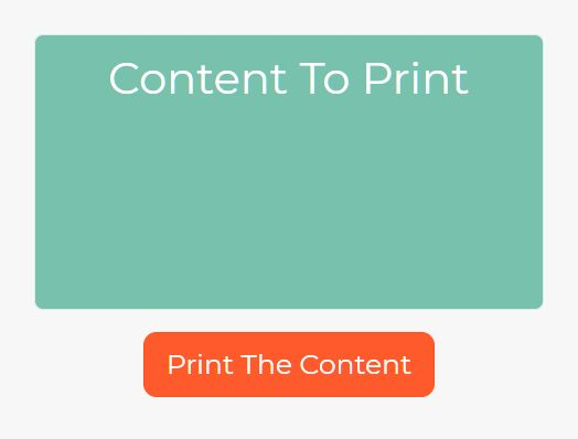 Print Specific Element With CSS - jQuery divjs