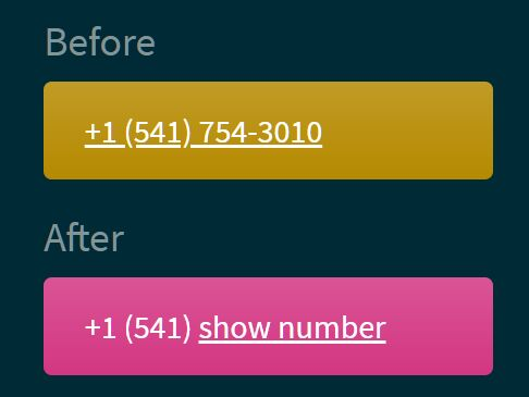 Protect Phone Number On Your Website - jQuery hide-phone-num