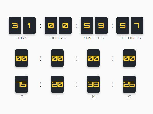 Countdown From A Date To Another Date - jQuery PsgTimer