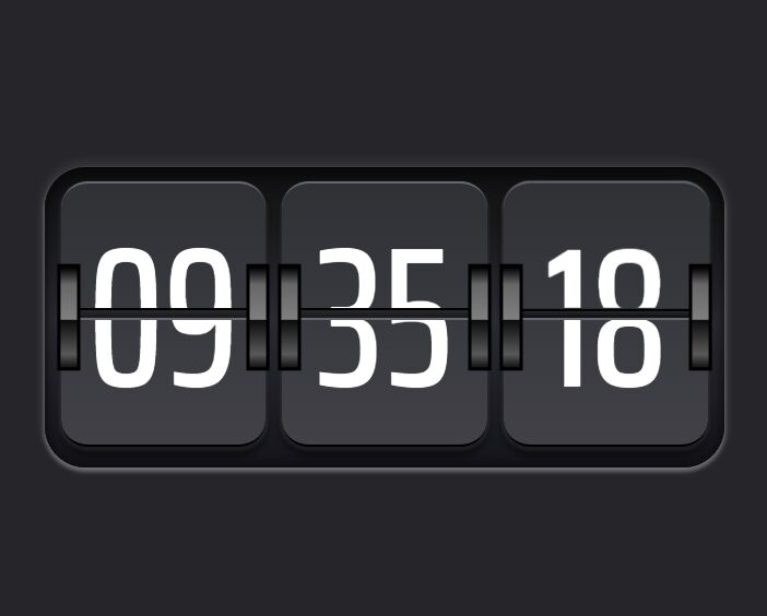 Realistic Flip Clock In jQuery