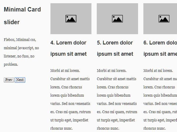 Minimal Responsive Card Slider In jQuery