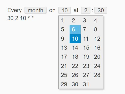 Schedule Cron Jobs With jQuery Cron Plugin
