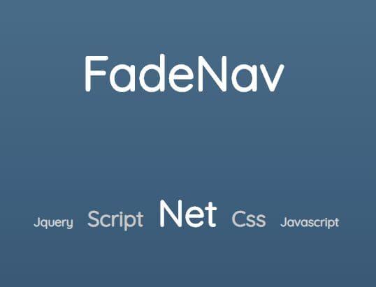Horizontal Scrolling Menu In JavaScript - jQuery FadeNav