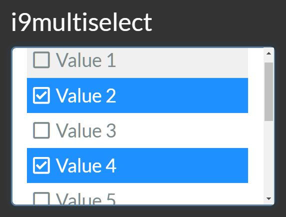 Select Multiple Options In A Select With Checkboxes - i9multiselect