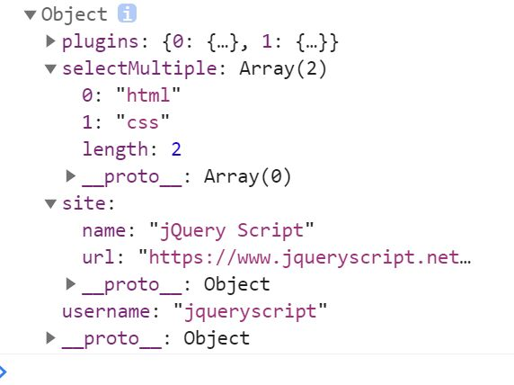 Fully Featured Form Serializer In jQuery - serializeJSON