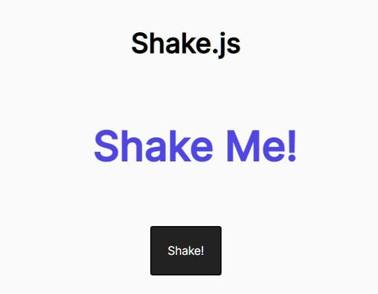 Shake Elements Using jQuery And CSS Transforms - shake.js
