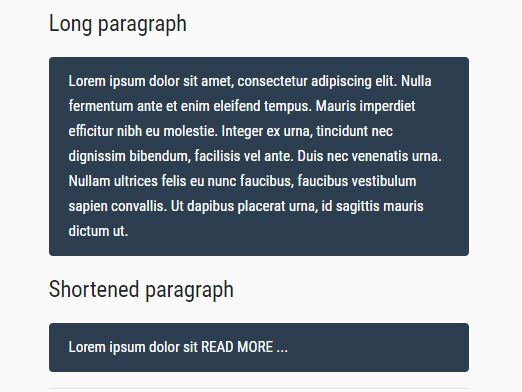 Shorten Long Text With Ellipsis - jQuery Dotify