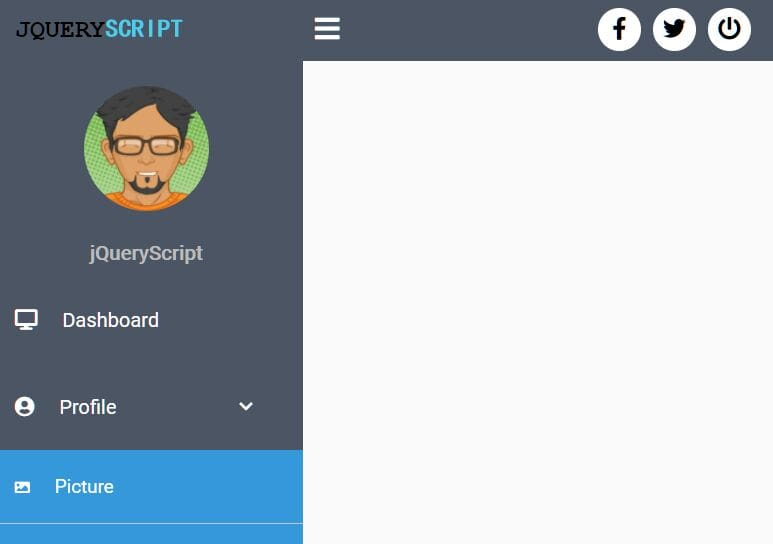 Easy Sidebar Navigation Template With jQuery And CSS