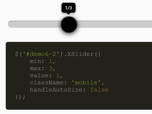 Mobile-friendly Slider Control Plugin - jQuery xslider