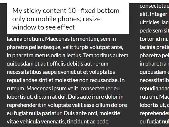 Highly Customizable Sticky jQuery Plugin - jQuery smartSticky
