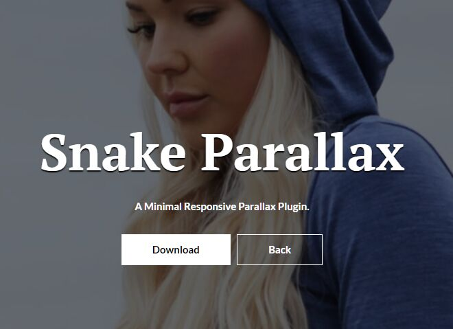 Minimal Background Image Parallax Effect In jQuery - Snake Parallax