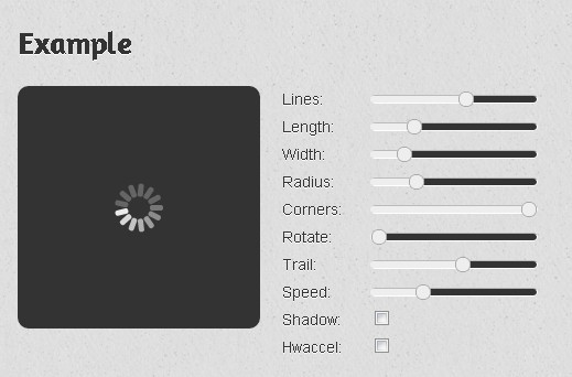 spin.js - Animated CSS3 Loading Spinner