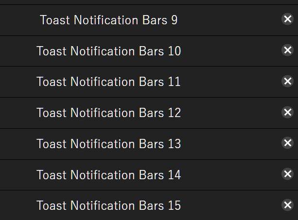 Minimal Stackable Toast-style Notification Bars In jQuery