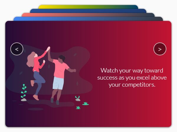 Stacked Card Carousel/Slider With jQuery And CSS3 Animations | Free