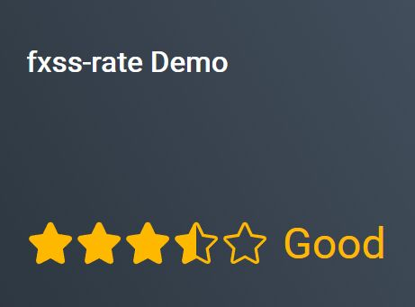 Simple Customizable Star Rating System - jQuery fxss-rate