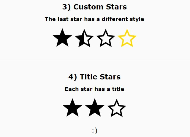 Responsive Customizable Star Rating System - jQuery hillRate