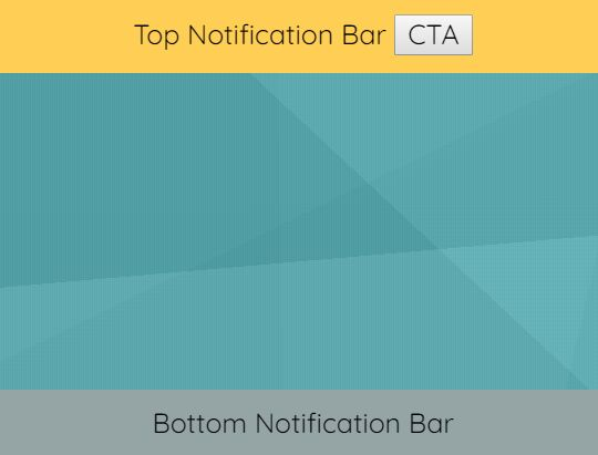 Sticky Notification Bar In jQuery - notificationBanner