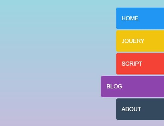 Sticky Side Tab Navigation With jQuery - hoverSlideJS