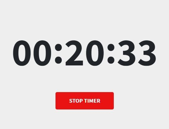 Minimal Stopwatch & Countdown App In jQuery - js-timer