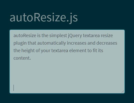 Auto Stretch Textarea To Fit Its Content - jQuery autoResize