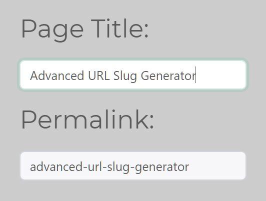 Advanced URL Slug Generator With jQuery - stringToSlug