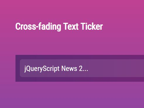 Cross-fading Text Ticker With jQuery And JSON - ticker.js