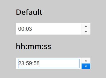 User-friendly Time Selector - jQuery Timespinner